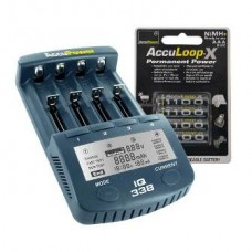 Accu Power IQ338 Ladegerät inkl. 4x AccuLoop AAA/Micro 1100mAh Akkus