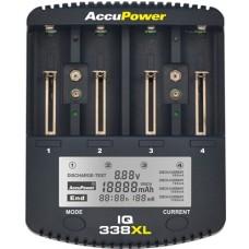 Accu Power IQ338XL Intelligentes Ladegerät und Akku Analyzer für Li-Ion/NiCd/NiMH